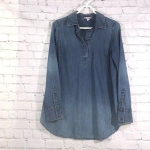 Liz Lange Maternity jeans Denim Shirt long Small